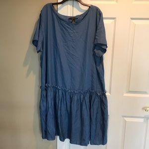 Ashley Stewart Woman Plus denim ruffle dress 22/24